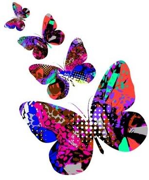 elegant butterflies background art vectors