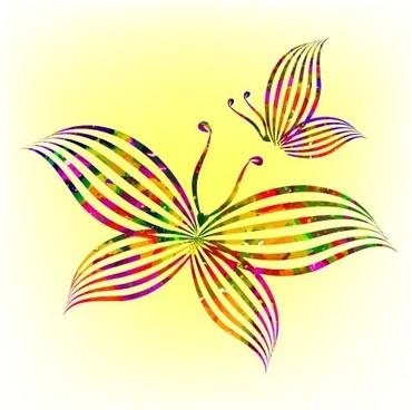 elegant butterflies background vector set