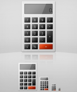 Elegant Calculator Icon PSD