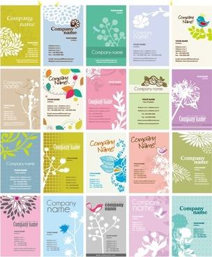 elegant card design vector