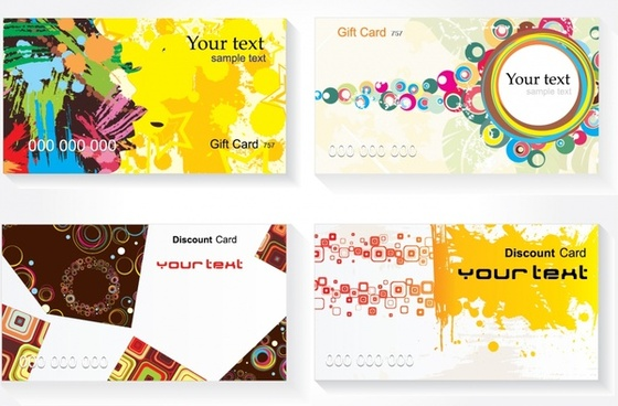 sales card templates abstract colorful geometric grunge decor