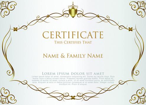 elegant certificate template vector design - Certificate Border Template