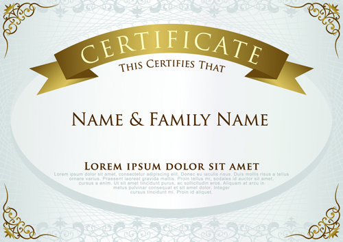 Free Certificate Template Free Vector Download 15757 Free Vector
