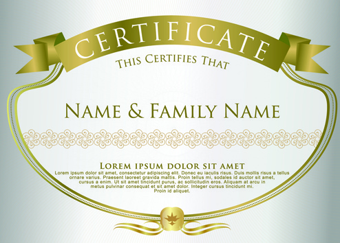 elegant certificate template vector design - Certificate Border Design Templates
