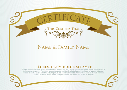 Free Certificate Template Free Vector Download 14352 Free Vector
