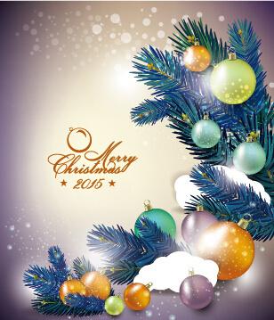elegant christmas colored baubles background art