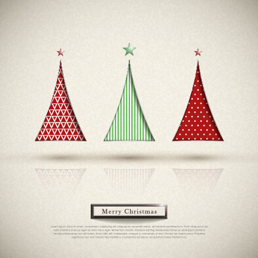elegant christmas tree holiday background vector