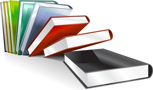 books icon shiny colorful 3d design
