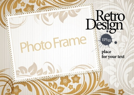 photo frame background template elegant vintage decor