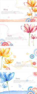 elegant dream flowers background vector