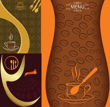 elegant europeanstyle vector menu