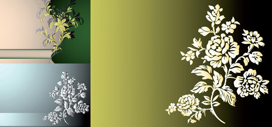 elegant floral background art