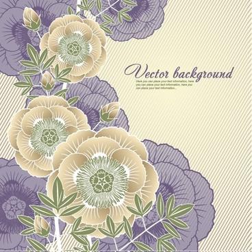 botany background elegant classic flat design