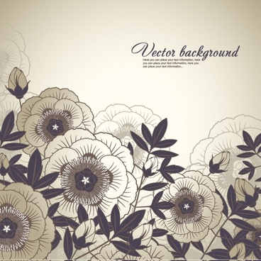 flower background dark flat retro handdrawn sketch