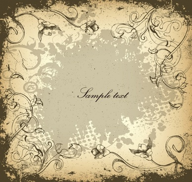 floral background dark grunge vintage design