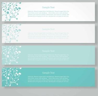 elegant floral banner vector graphic