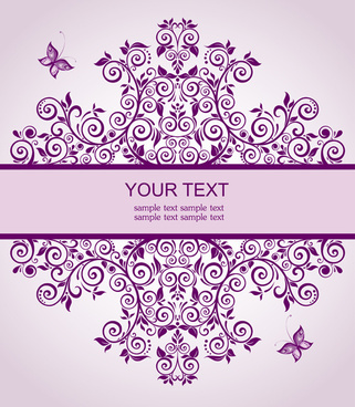 Blank invitation card free vector download 14442 free vector for elegant floral decor wedding invitation cards vector stopboris Images