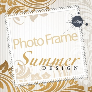 photo frame background template bright elegant floral decor