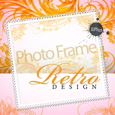 elegant floral decorative frame vector