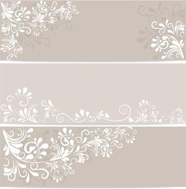 elegant floral ornament banner vector