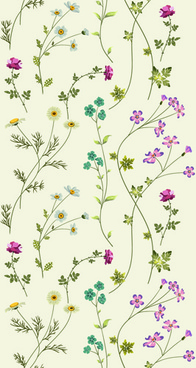 elegant floral pattern vector set