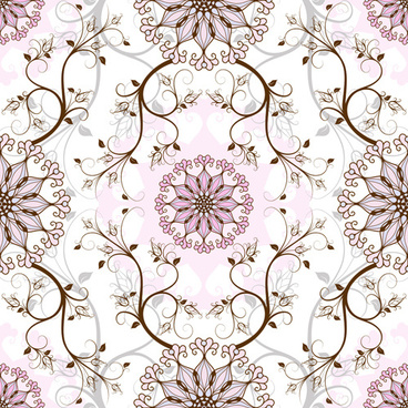 elegant floral seamless pattern vector graphic