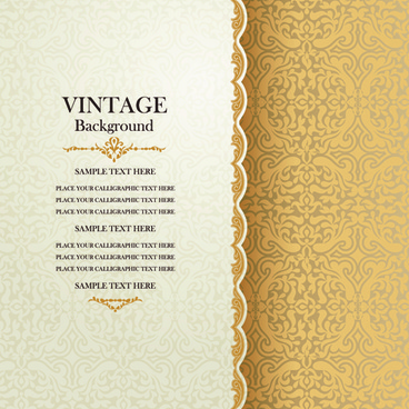 elegant floral vintage backgrounds vector
