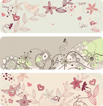 elegant flower pattern vector lines