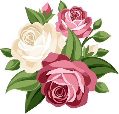 elegant flowers bouquet vector