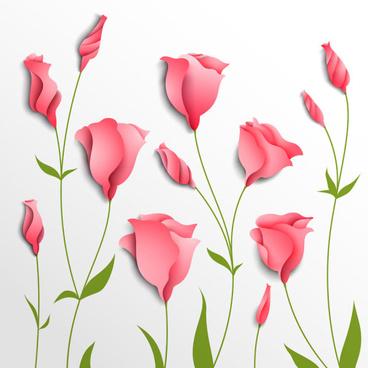 elegant flowers vector graphics