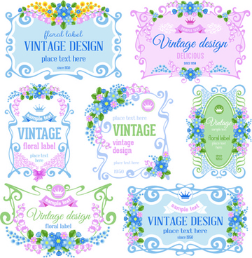 elegant frame vintage design vector