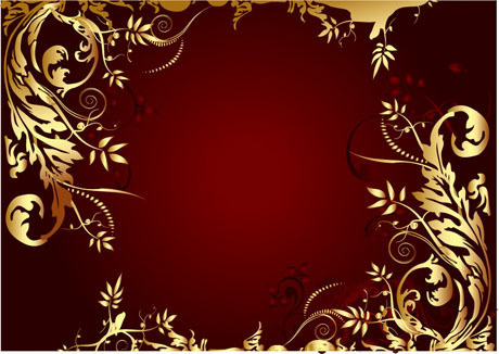 elegant gold colored decorative frame vector