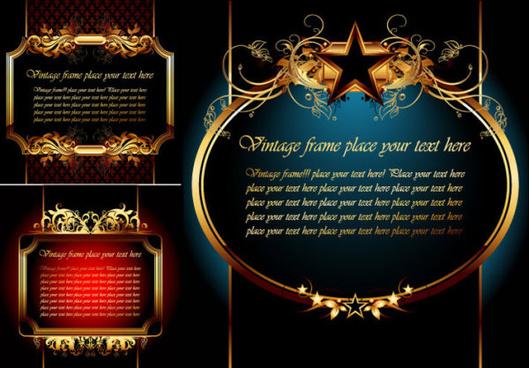 elegant gold frame vector