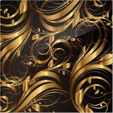 elegant golden pattern vector