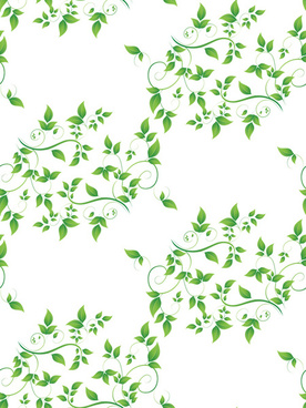elegant green leaves seamless pattern vector