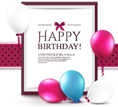 elegant happy birthday balloon background vector