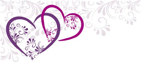9d0ca35677d2 Elegant heart border designs free vector download (13
