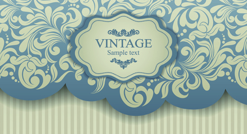 elegant invitations vintage style design vector