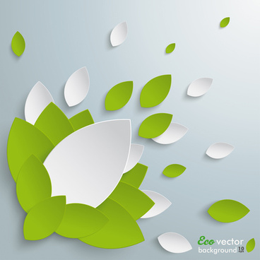 elegant leaves shape vector background