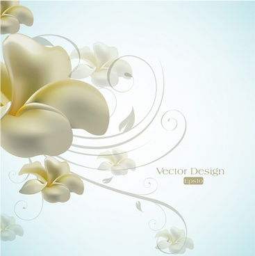 elegant lily design text background vector