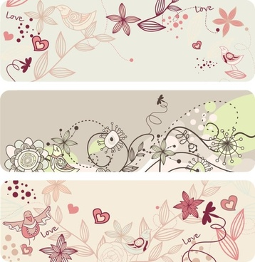 elegant lines of floral pattern vector