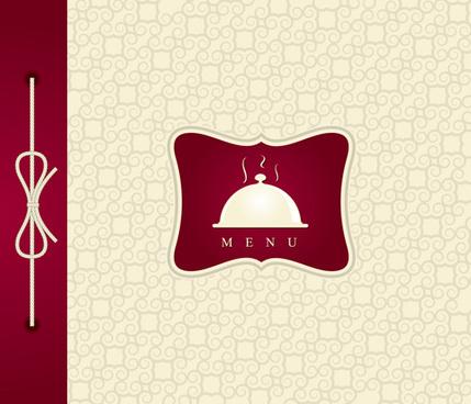 elegant menu cover design vector