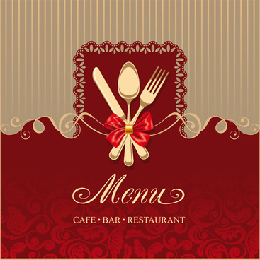 elegant menu cover vector graphics
