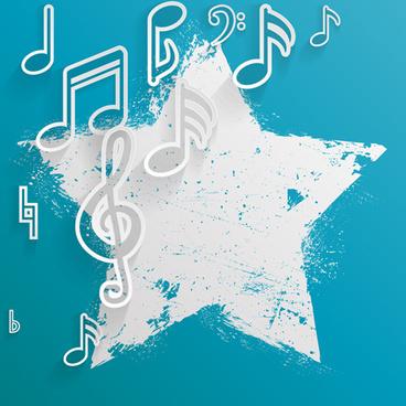 elegant music note background vector set