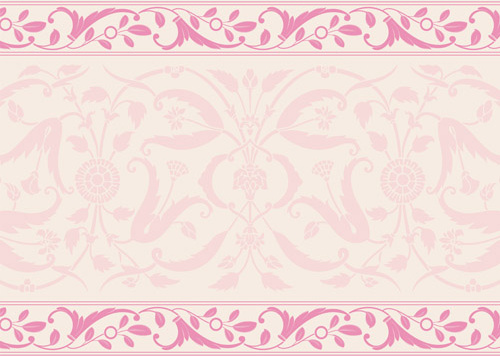 elegant ornament floral borders seamless vector