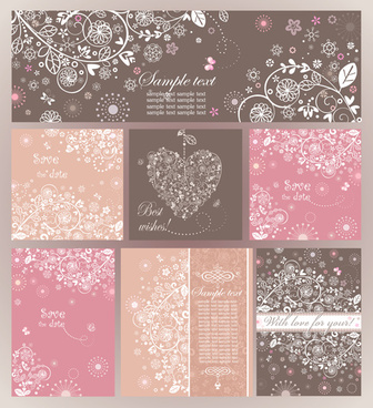 elegant ornaments floral background vector