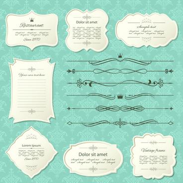elegant paper frames vector