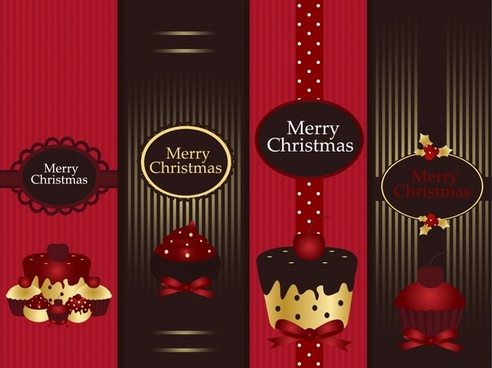 christmas card cover elegant dark cup cake decor