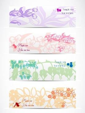 elegant pattern banner01 vector