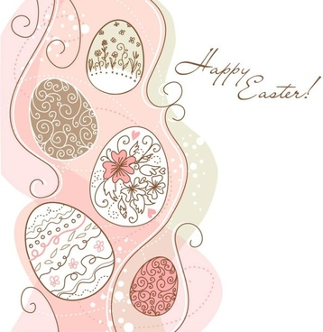 elegant pattern eggs 02 vector